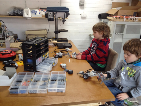 Kids first day at HackerSpace Melbourne